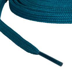 Cordones planos para botas de senderismo azul