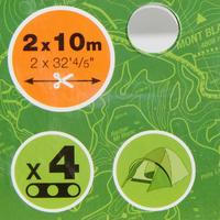 2 x Viento 10 m + 2 tensores, para hacer 4 vientos para casas de campaña