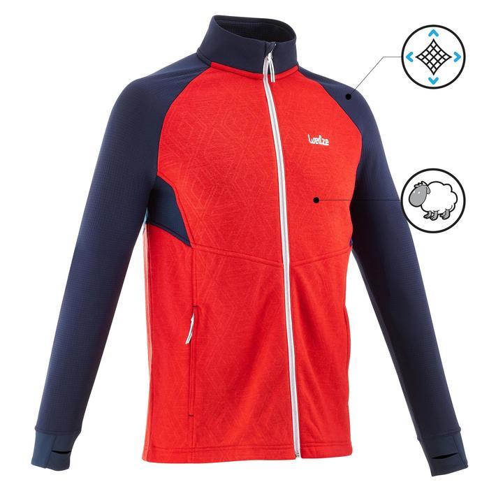 Sous-veste de ski Laine homme 500 Bleue - 1137043