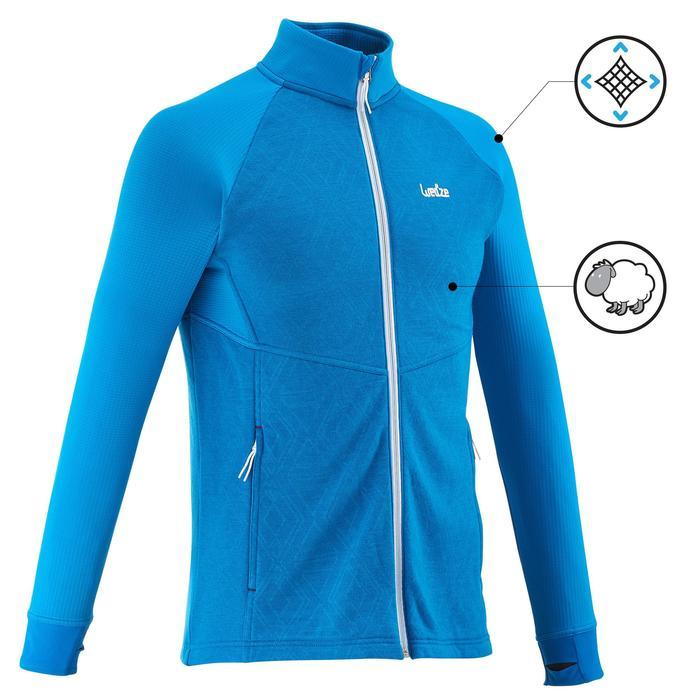 Sous-veste de ski Laine homme 500 Bleue - 1137045