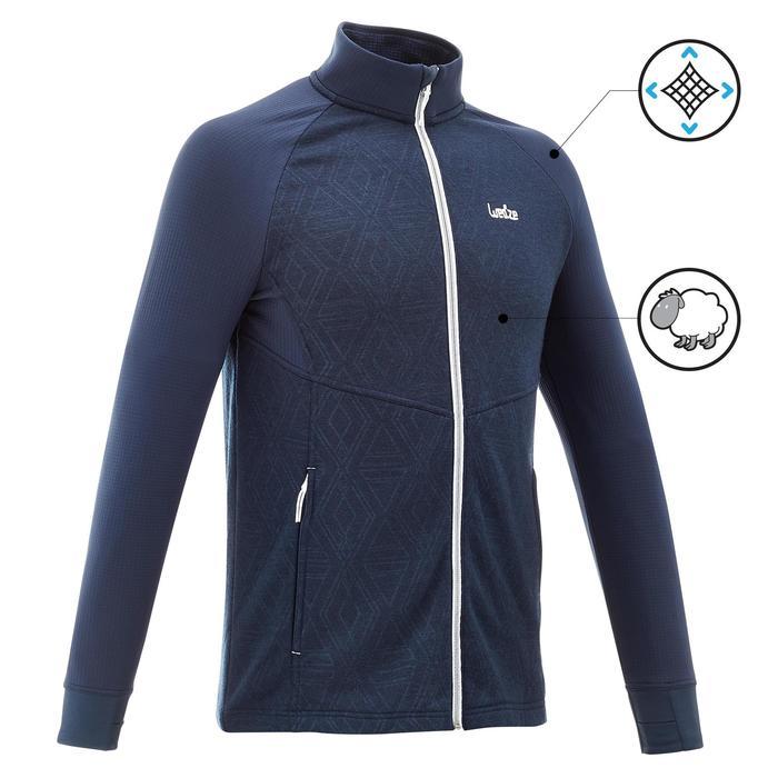 Sous-veste de ski Laine homme 500 Bleue - 1137046