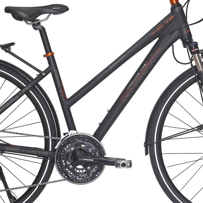 "Fahrrad 28"" Trekkingrad Riverside 740 TR Damen anthrazit/orange"