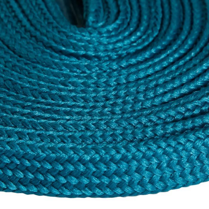 Cordones planos de botas de senderismo azul