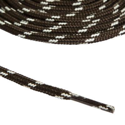 Cordones redondos de calzado de Excursionismo gris negro