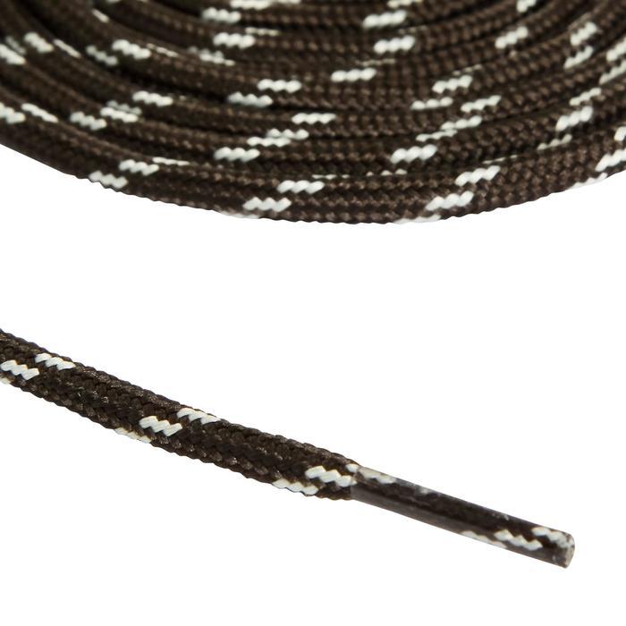 Cordones redondos de botas de senderismo gris negro