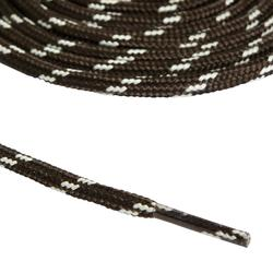 Schnürsenkel für Wanderschuhe rund grau/schwarz