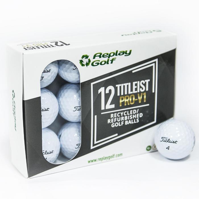 Balle de golf recyclée Titleist ProV1 X12 Blanc