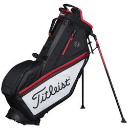 Golf standbag Players 4 zwart/rood/wit