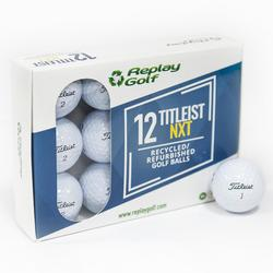 Gerecycleerde golfbal Titleist NXT x12 wit