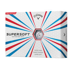 Goflballen Supersoft 2017 x12 wit