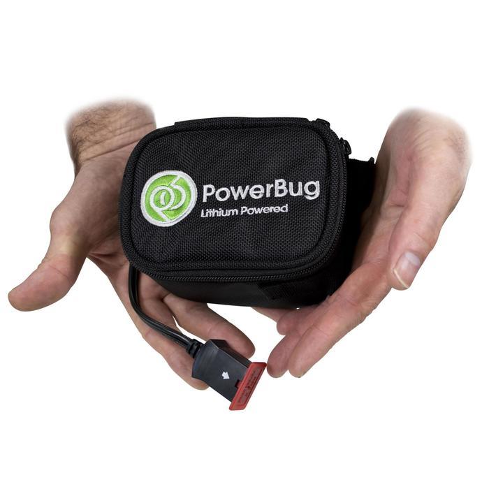 Elektrische golftrolley PowerBug Pro Tour mini lithiumbatterij