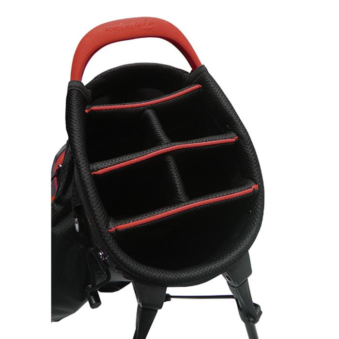 Golf standbag TM zwart/rood