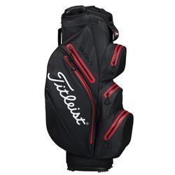 Waterdichte golf trolleytas Stadry zwart/rood