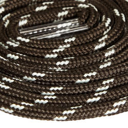 Round Hiking Boot Laces - Grey Black