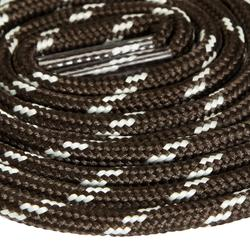 Lacets ronds pour chaussures de randonnée gris noir
