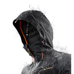 Chaqueta lluvia Senderismo en la montaña MH500 impermeable hombre Negro