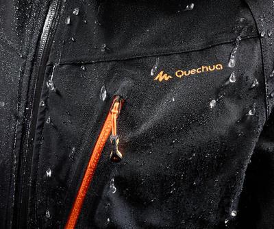 Chaqueta lluvia impermeable excursionismo hombre Forclaz 400 Negro