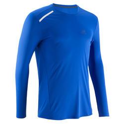 Heren T-shirt Sun Protect voor hardlopen blauw