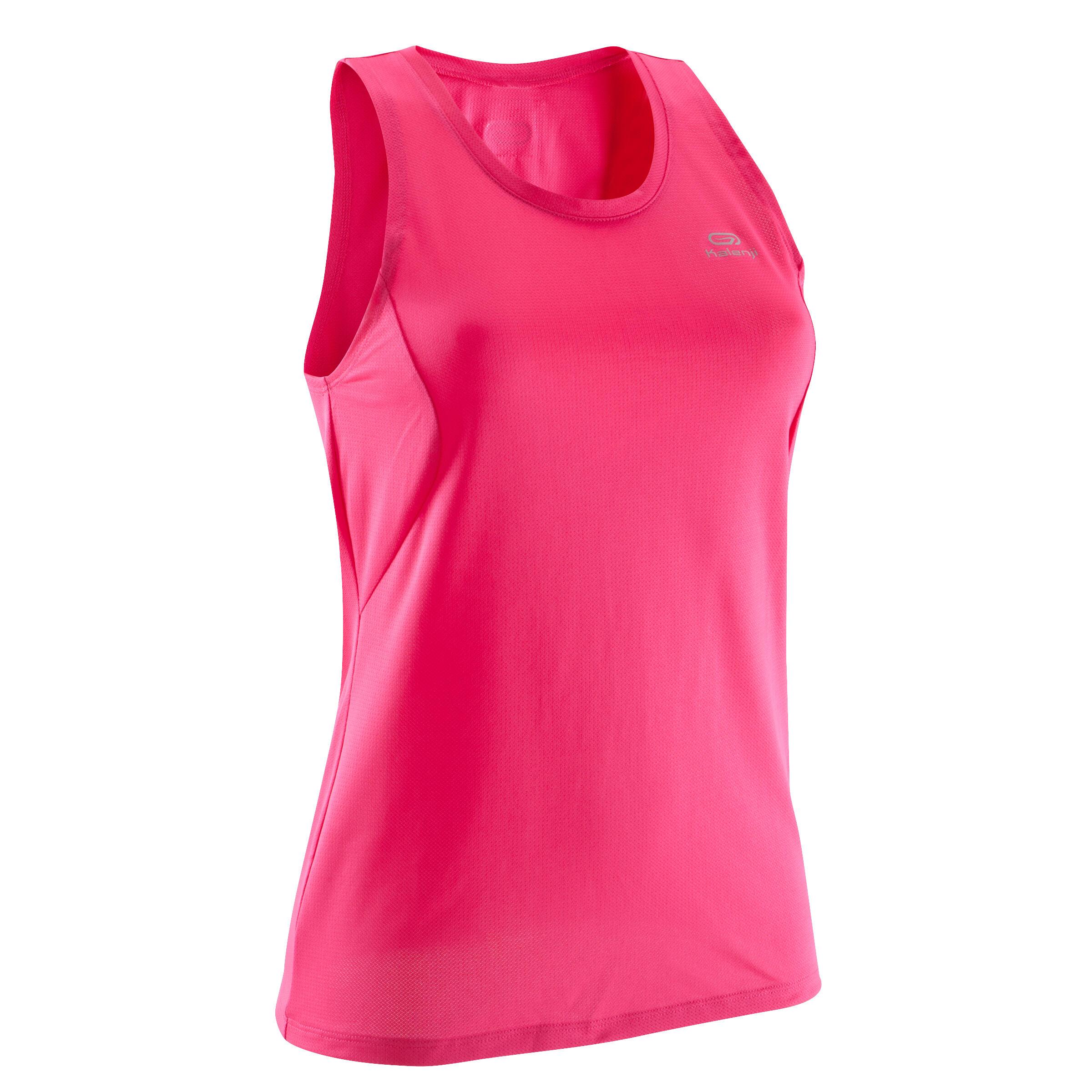 Lauftop Run Dry Damen pink   Sportbekleidung > Sporttops > Lauftops   Rosa   Baumwolle - Ab   Kalenji
