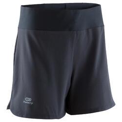 女款慢跑運動短褲RUN DRY-黑色