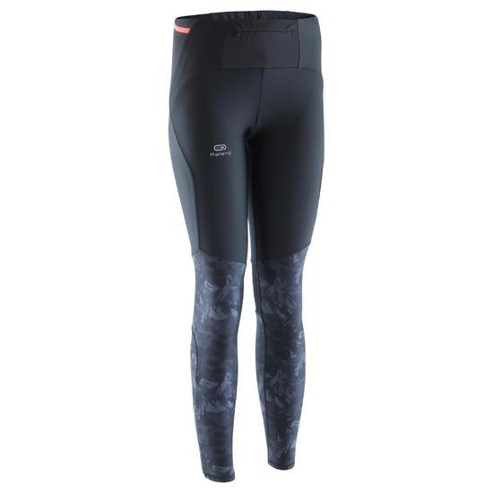 Dames legging voor traillopen zwart/oranje - 1137303