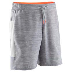 男款跑步短褲Run Dry + - 雜灰色
