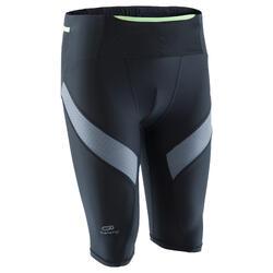 KIPRUN 男性壓縮跑步緊身褲黑色