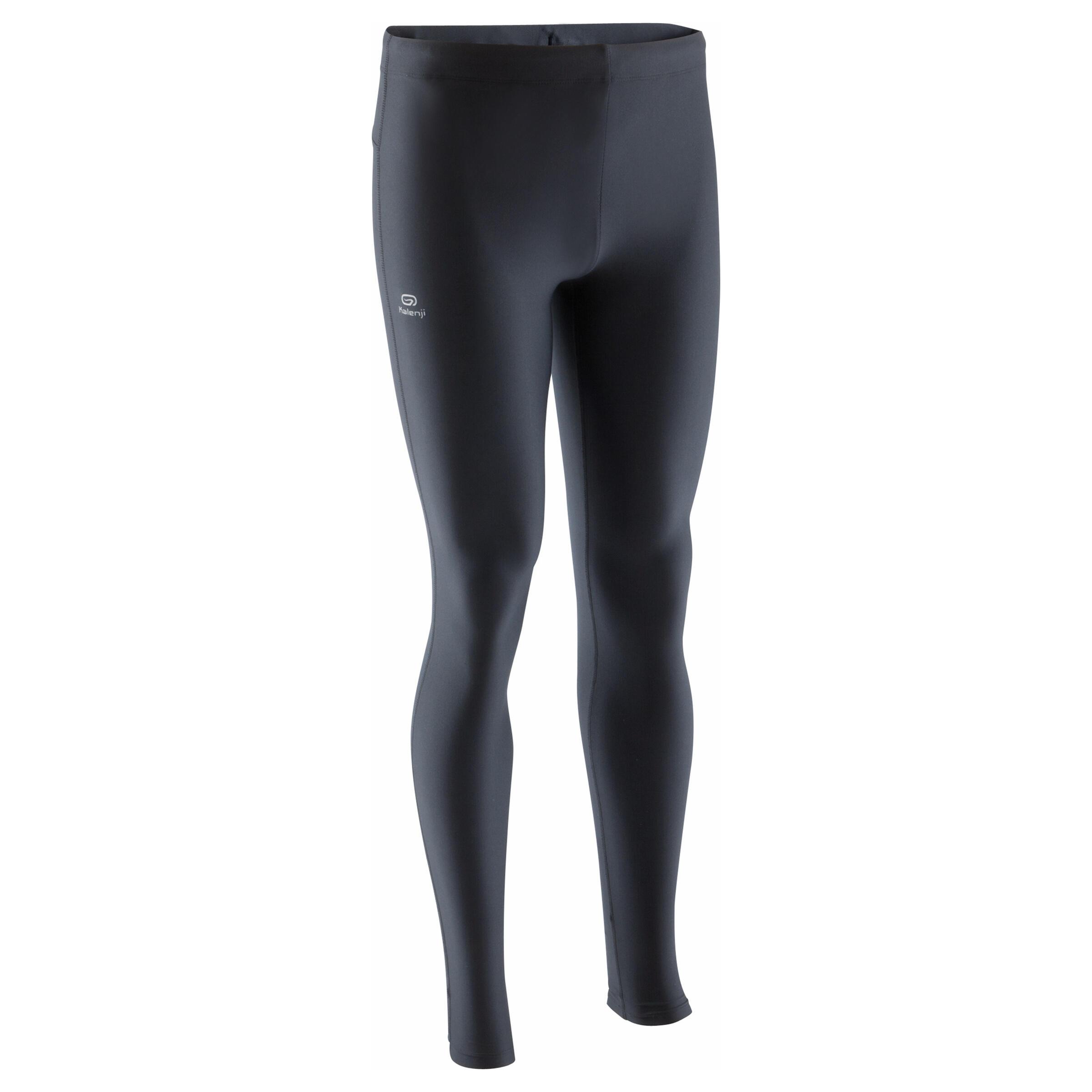 Celana Panjang Ketat Run Dry Pria - Hitam