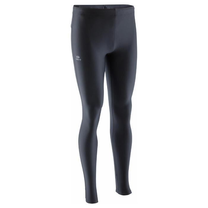 男款跑步緊身褲RUN DRY - 黑色