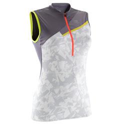 Damestop Perf voor traillopen, grijs/wit