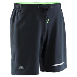Pantalon Corto Deportivo Running Kalenji Run Dry+ Hombre Negro