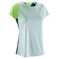 Hardloopshirt voor dames Kiprun Light Kalenji pastelblauw