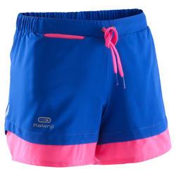Loopshort Kalenji Run Dry voor meisjes blauw/roze