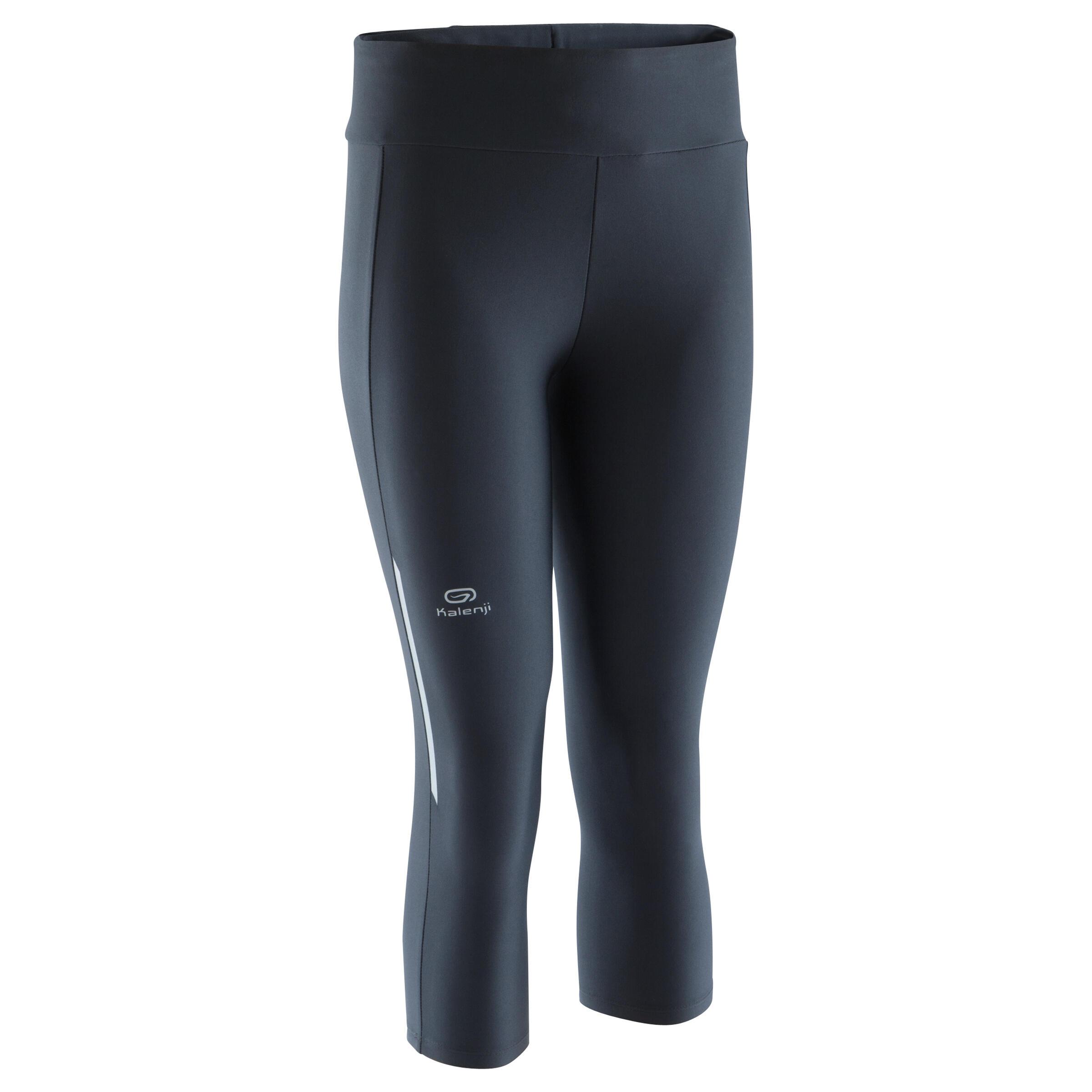 Laufhose 3/4 Tights Run Dry Damen schwarz | Sportbekleidung > Sporthosen > Laufhosen | Kalenji