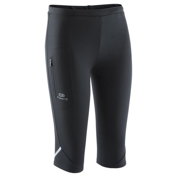 Laufhose 3/4 Tights Run Dry Kinder schwarz