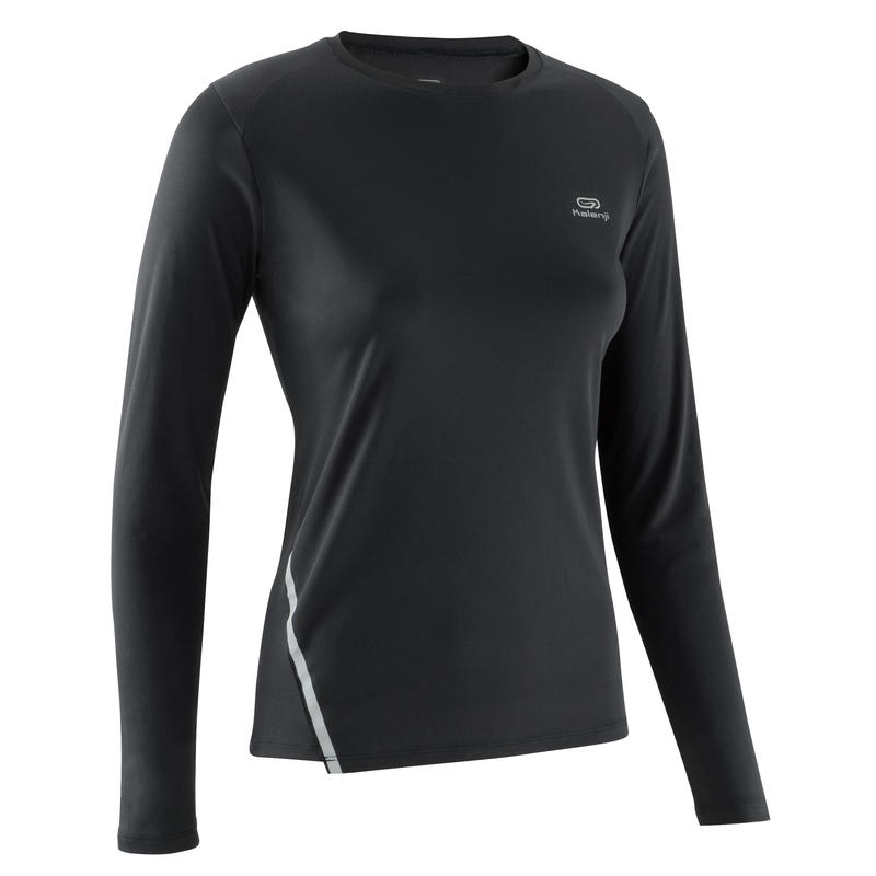 Chandail de protection solaire pour la course à pied noir – Femmes