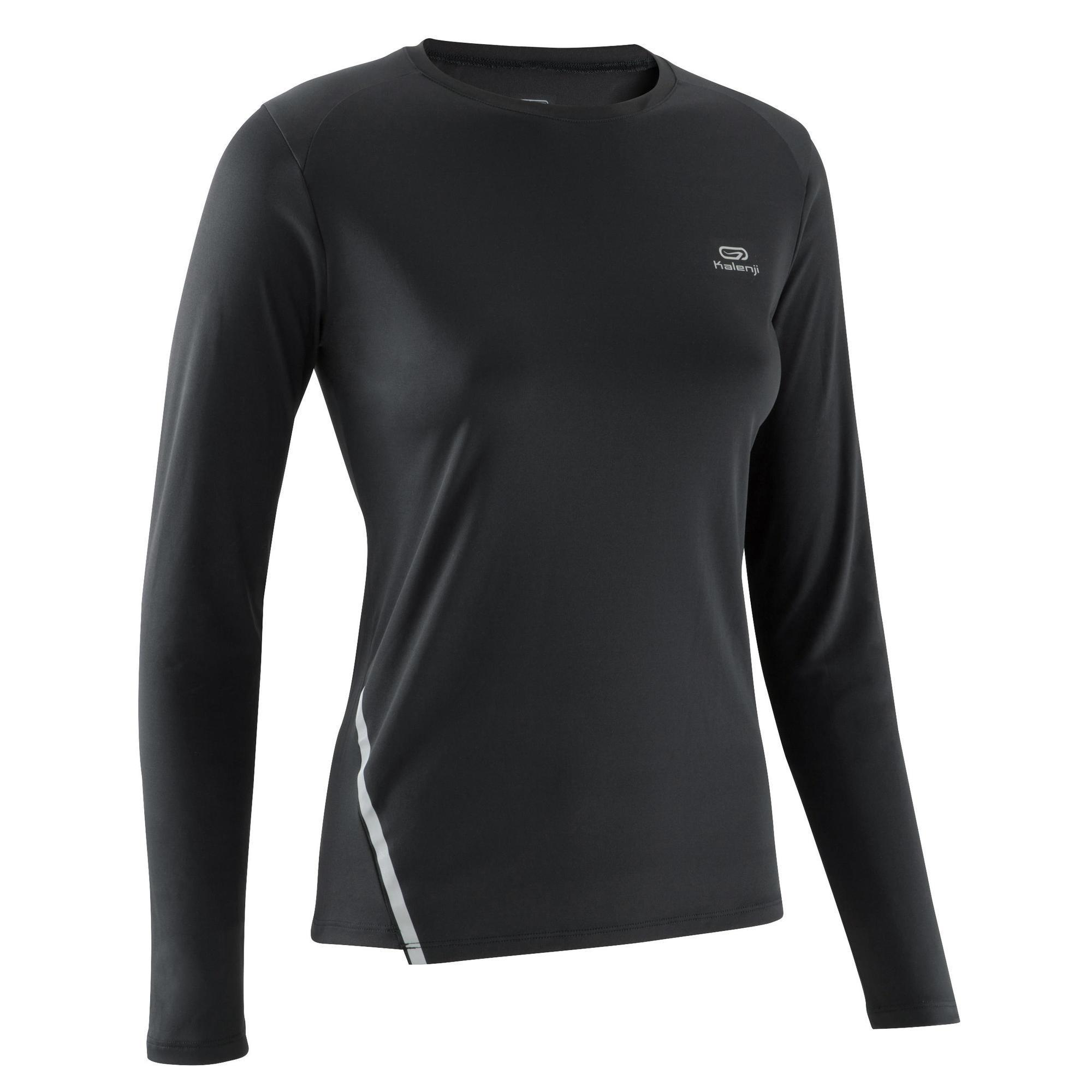 Laufshirt langarm Run Sun Protect Damen schwarz   Sportbekleidung > Sportshirts > Laufshirts   Schwarz   Ab   Kalenji