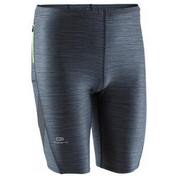 RUN DRY+ MEN'S RUNNING TIGHT SHORTS GREY
