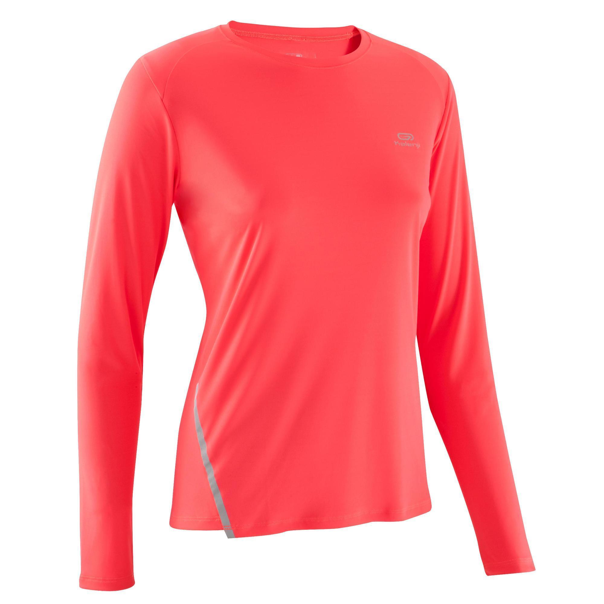 Kalenji Damesshirt met lange mouwen voor jogging Run Sun Protect