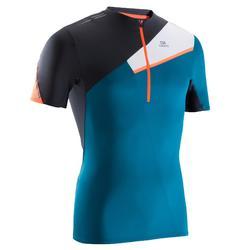 Men's Trail Running Short-Sleeved T-shirt - Graph Blue