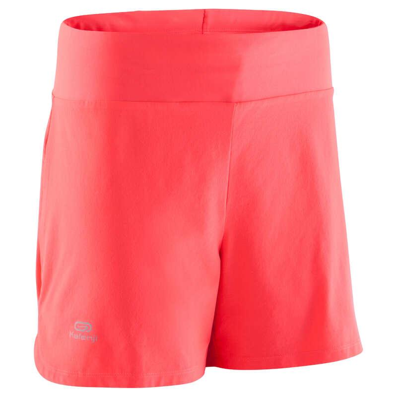 OCCAS WOMAN JOG WARM/MILD WHTR CLOTHES Clothing - RUN DRY SHORTS FLUO CORAL  KALENJI - Bottoms