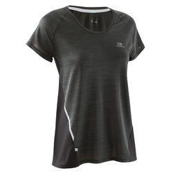 SS T-SHIRT RUN LIGHT WOMEN'S RUNNING T-SHIRT - BLACK