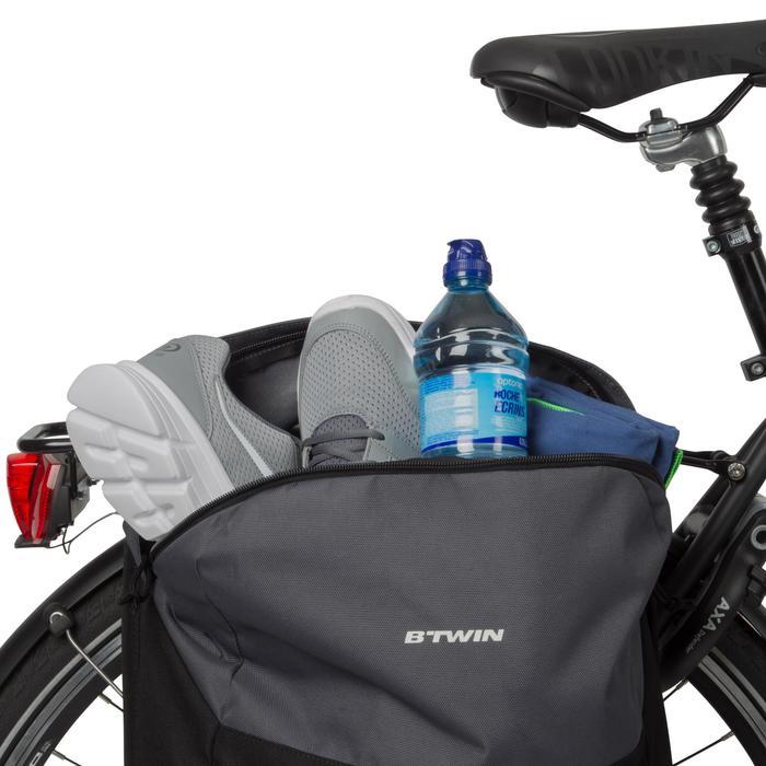 Fietstas voor in de stad 100 15 liter voor bagagedrager