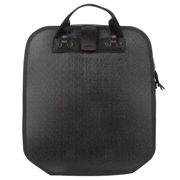 Fahrradtasche Gepäcktasche 100 15Liter grau/schwarz