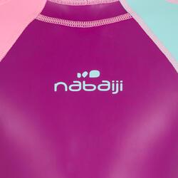 Bañador Neopreno Natación Nabaiji Niña Shorty Violeta/Turquesa Pastel