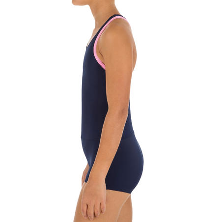 Baju Renang Legsuit Leony One-Piece Shorty Perempuan - Navy