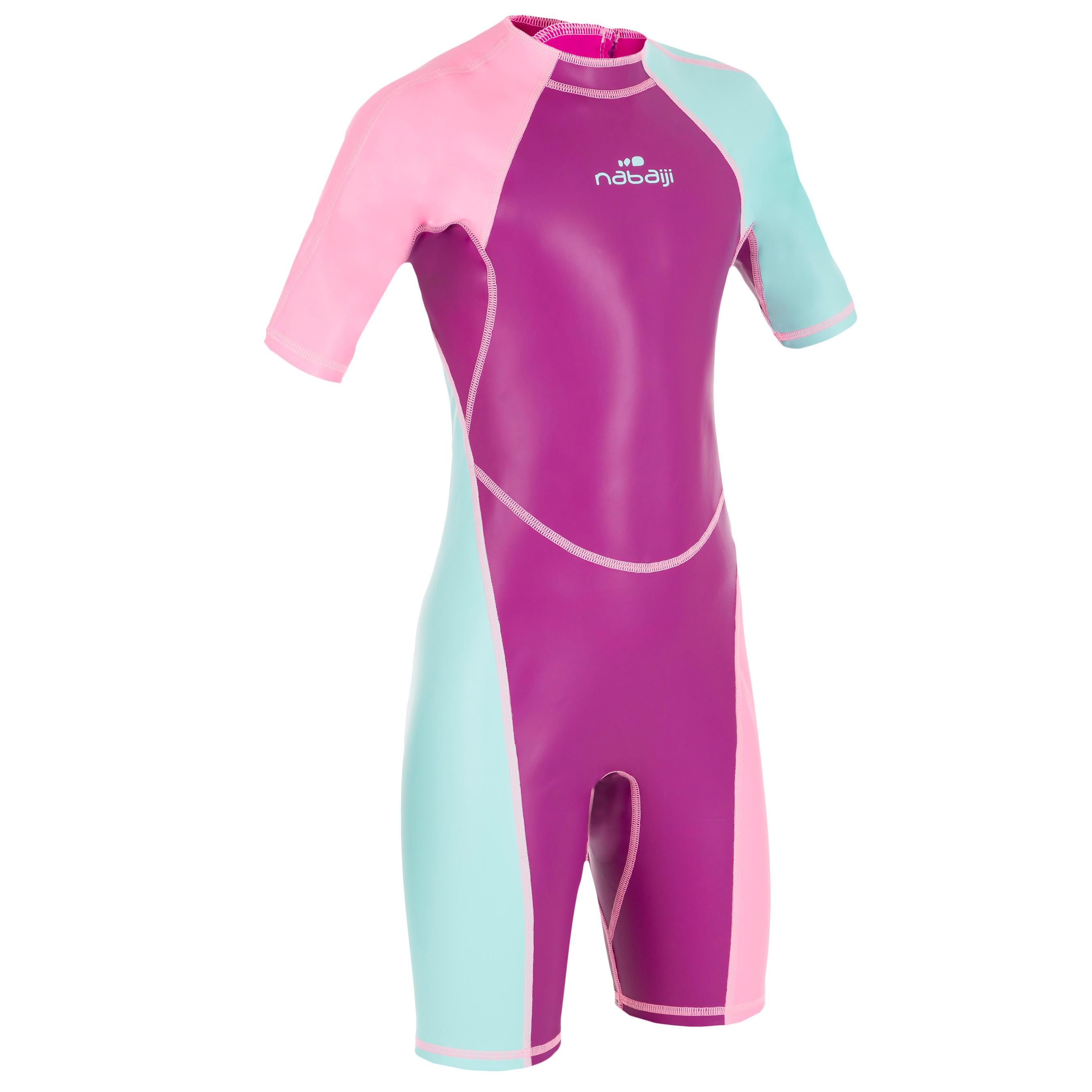 Mädchen,Kinder Schwimmanzug Shorty Kloupi Mädchen violett/rosa | 03583788260776