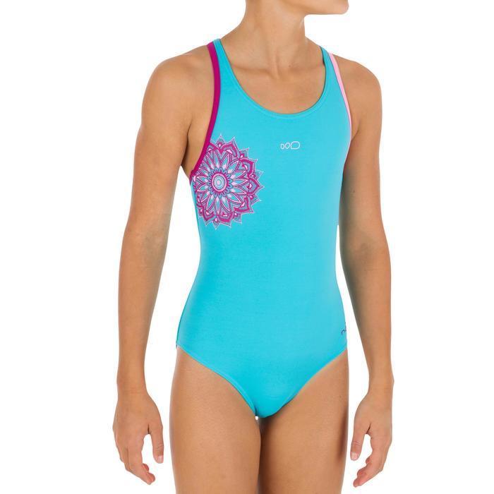 Maillot de bain de natation fille une pièce Leony + - 1137522
