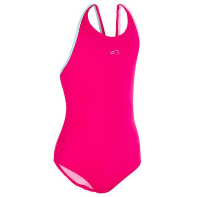 Vestido de baño enterizo de natación Leony + niña rosado