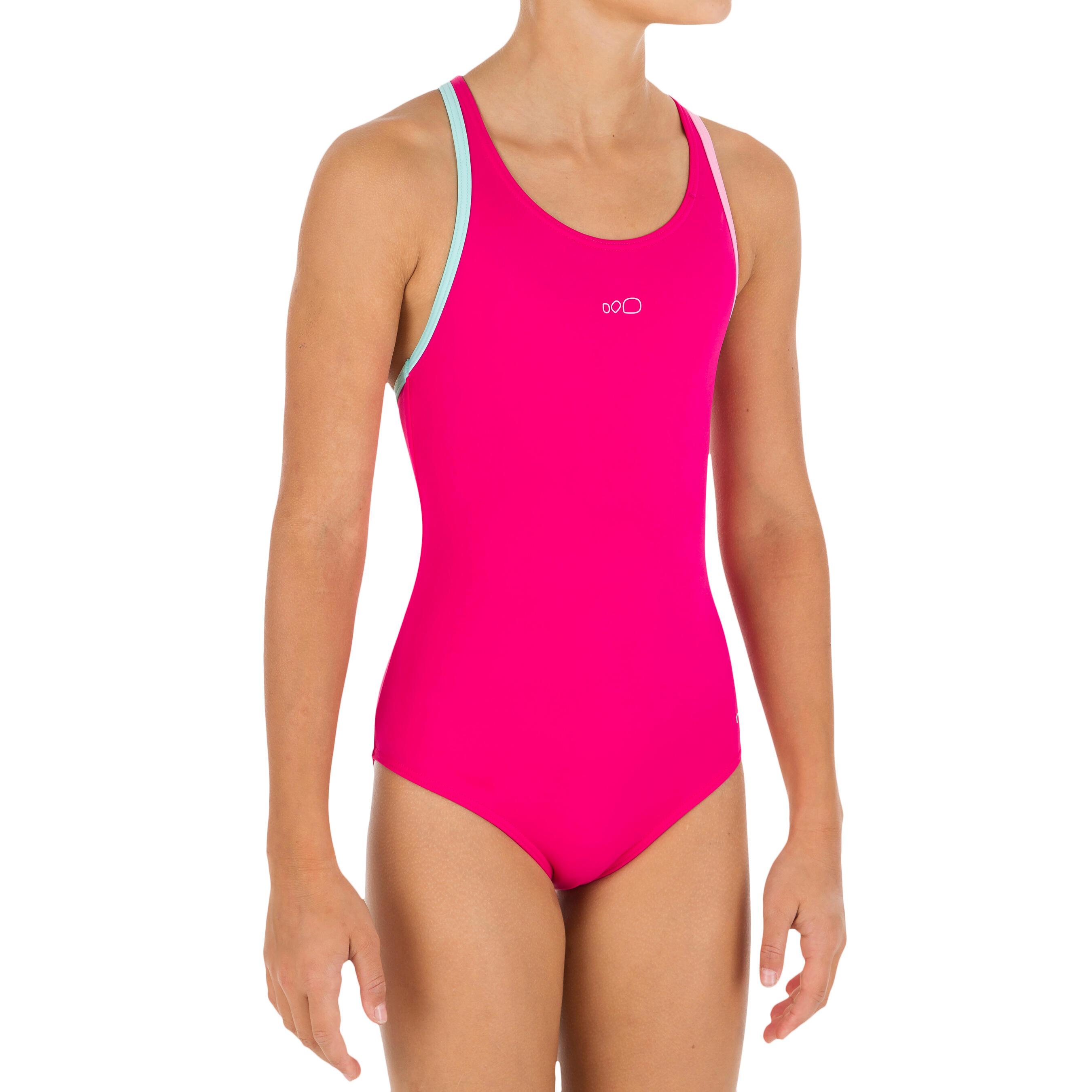 Nabaiji Meisjesbadpak Leony+ voor zwemmen